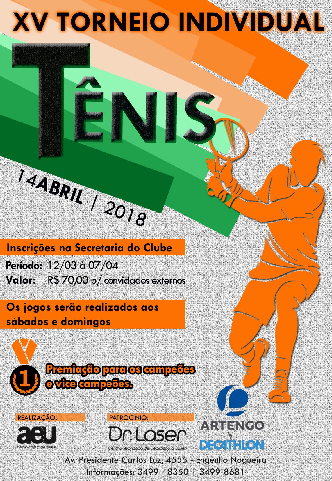 Cartaz - Torneio de Tênis 2018 f4dc1581136e3